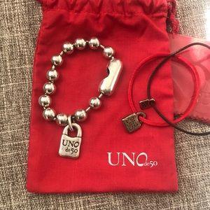 NWOT Uno de 50 silver Snowflake bracelet + BONUS!